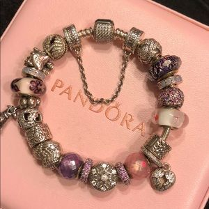 Authentic Pandora bracelet - completely filled